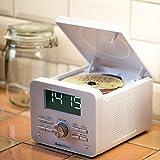 AudioAffairs CD-Uhrenradio | CD-Player mit UKW-Radio-Wecker | AUX-IN | 2 Weckzeiten | Snooze- und...