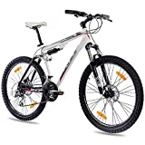 26' KCP MOUNTAINBIKE ALU FULLY FAHRRAD PUMP-2 mit 24 Gang SHIMANO ACERA & DISK weiss schwarz
