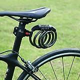 Hihill Fahrradschloss, Fahrradschloss, Fahrradschloss mit zahlencode, Wasserdicht Tragbar 4-Feet x...