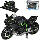 Kawasaki Ninja H2R Karbon Schwarz Ab 2014 Mit Sockel 1/18 Maisto Modell Motorrad