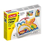 Quercetti Fanta Color Gross Buntes Steckspiel 0950 mit Transport box