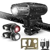 LED Fahrradbeleuchtung Set, Innosinpo USB Wiederaufladbare Wasserdicht Fahrradlicht Set Fahrradlampe...