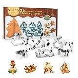 3D Ausstecher, Profer Plätzchen Keks Kuchen Ausstechform Weihnachten Starter-Set ( 8 Stück ) aus rostfreiem Edelstahl