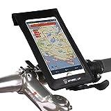 Fahrrad Lenkertasche Handyhalterung Smartphone Navigationshalterung Wasserdicht für iphone Samsung Huawei Sensitive Touch-Screen 5.8 Zoll Schwarz