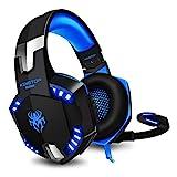 Gaming Kopfhörer PC KINGTOP PS4 Headset mit Mikrofon LED Bass Lautstärkeregelung Stereo Gamer...