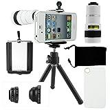 CamKix iPhone 4 / 4S Kamera-Objektiv-Set mit einem 8x Teleobjektiv / Fisheye Objektiv / 2 in 1...