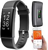 PEARL Fitness Tracker: Fitness-Armband, GPS-Streckenverlauf, Puls, 13 Sportarten, App, IP67 (Fitness...