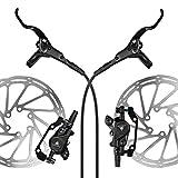 AFTERPARTZ NV-8 Hydraulische Fahrrad Scheibenbremse Satz MTB 160mm Scheibe, Sattel, Belag, Hebel und...