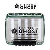 Fishing Ghost wasserdichte Köderbox für Spoons, Spinner, Blinker und Fliegen - passt in jede Jacke...