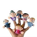 Soccik Baby Fingerpuppen Set Handspielpuppen Familie Leute Weicher Finger Puppen Baby Bildungswesen...