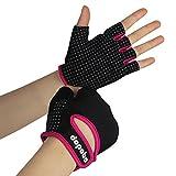 Dopobo Damen Gel Handschuhe Training Frauen Gym Fitness Handschuhe RadHandschuhe(Schwarz und...