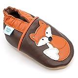 Dotty Fish , Baby Jungen Lauflernschuhe braun Brown with Orange Fox 18-24 Monate