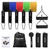 Finether Fitnessbänder set 5-stärken Widerstandsband Set Resistance Bands Gymnastikband...