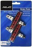 XLC Bremsschuhe V-Brake BS-V01 4er Set 70 mm, schwarz/rot, 2500383200