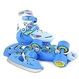 Inline Skates Kinder | NILS| Inliner 3in1 | Verstellbare Schlittschuhe Rollschuhe...