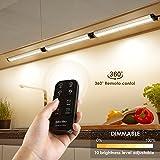 Albrillo 3er Pack 12W LED Unterbauleuchten mit Timer Funktion und 360° Kontrolle Fernbedienung,...