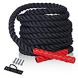 CCLIFE Schlacht Seil Trainingsseil Sportseil Schwungseil für Fitnessstudio und Muskelaufbau 9m oder...