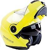 TK380 Motorradhelm Klapphelm Motorrad Helm gelb Takachi M