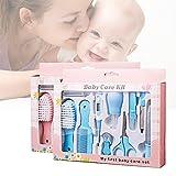 gzqes 10-teiliges Etui für Babypflege und Babygesundheit blau