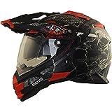 Broken Head Road Pirate Cross-Helm mit Visier   Endurohelm - MX Motocross Helm mit Sonnenblende - Quad-Helm Größe M (57-58 cm)