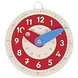 Kleine Lernuhr, Holz, Goki, Uhrzeit lernen