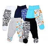TupTam Unisex Baby Hose mit Fuß Bunte Strampelhose 5er Pack, Farbe: Junge 2, Größe: 86