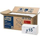 Tork 290163 weiche Zickzack Handtücher Advanced weiß für Tork H3 Zickzack und Lagenfalz Handtücher-Systeme / Falthandtücher 2-lagig weich & saugstark / 15 x 250 Tücher (24.8 x 23 cm)