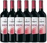 6er Paket - Glicine Rosso Sicilia IGP 2015 - Corvo - Duca di Salaparuta | trockener Rotwein | italienischer Wein aus Sizilien | 6 x 0,75 Liter