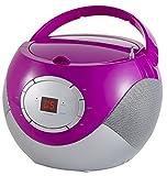 Tragbares Stereo CD-Radio   Tragbarer CD Player   Radio Boombox   AM/FM Radio   LCD-Display   Antishock-Funktion   Pink