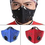 Damen und Herren Outdoor Sport emissionskontrollvorrichtungen Carbon Tuch Maske Filter...