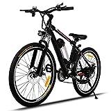 Beautytalk E-Bike 26 Zoll Elektrofahrrad E-Bike 35km/h Mountainbike Elektro Fahrrad mit Kapazität...