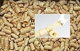1,5 kg (ungefähr 135 Stück) mumba® Tornados # natürliche Ofenanzünder aus Holzwolle in Wachs getränkt # Grillanzünder natürliche Holzanzünder Zündwolle Anzünder Wachs Kaminanzünder Feueranzünder Anzündwürfel Holzwolleanzünder Anzündhilfe