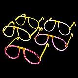 S/O 10er Pack Knicklichtbrille 5 farbig sortiert Partybrille Leuchtbrille Brille Knicklicht Party...