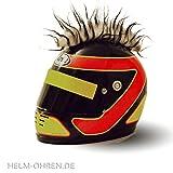 Helm - Irokese 'Weiß- Schwarz' für den Motorradhelm, Crosshelm, Motocrosshelm - Helmirokese - Coole Helmdeko / Irokesenaufsatz - Punk Iro