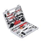 Yorbay Fahrrad Werkzeugkoffer 48 tlg. Werkzeugset im praktischen Tragekoffer zur Fahrradreparatur...