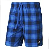 adidas Herren Checked Badeshorts, Collegiate Navy/Blue/Shock Blue, XL