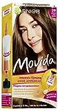 Garnier Tönung Movida Pflege-Creme, Intensiv-Tönung Haarfarbe 29 Kühles Hellbraun (für leuchtende Farben, auch für graues Haar, ohne Ammoniak) 3er Pack Haarcoloration-Set