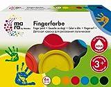 Mara by Marabu 042100088 - Fingerfarbe, 6 x 35 ml