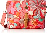 Oilily Damen M Flat Shoulder Bag Umhängetasche, Pink (Pink Flamingo), 2.5 x 20.5 x 28 cm