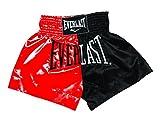 Everlast Erwachsene Hose Thai Boxing Short, Red/Black, S, EM7