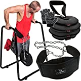 C.P. Sports Dipstation-Set inkl. Dipstation mit Schlaufen , Kettlebell, Dipgürtel und...