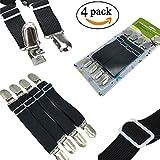 Yooeen Verstellbare Bettlakenspanner Elastische Betttuchspanner Optimale Rutschfestigkeit Für alle Bette und Matratzen 4er-pack