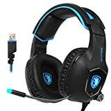 SADES R13 USB Gaming Headset Surround Stereo Kopfhörer Gaming Headset mit Mikrofon Revolution...