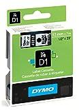 Dymo S0720500 D1-Etiketten (Selbstklebend, für den Drucker LabelManager, 12 mm x 7 m Rolle) schwarz auf transparent