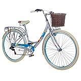 28 Zoll Chill Damenrad Citybike Fahrrad Hollandrad Damenfahrrad 6 Gang, Farbe:metallgrau,...