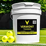 Vermont Tennis Training Ball - Drucklose Tennisbälle - Extrem langlebig - 60-Ball Eimer - High-Vis...