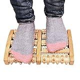 Holz Dual Foot Massage Roller Schmerzlinderung für Plantar Fasciitis Heilen Spur Tiefengewebe...