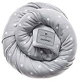 manduca Sling - Elastisches Tragetuch 100% Bio-Baumwolle GOTS-Zertifikat, 3 Bindeanleitungen, für Neugeborene und Babys bis 15 kg