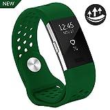 Yometome Fitbit Charge 2 Armband Original, Weiche Silikon Uhrenarmband für Sport und Ersatz...