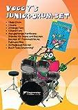Voggy's Junior-Drum-Set. Komplett-Set. 1 Bass Drum, 1 Snare, 2 Hänge-Tom, 1 Stand-Tom,...